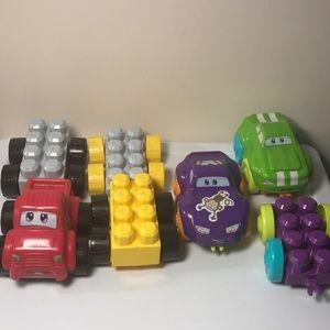 lot of 7 Cars Mega Bloks Kids @Work building toys